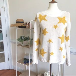 MARLED Star Knit long sleeve sweater small